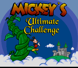 Mickey's Ultimate Challenge on snes