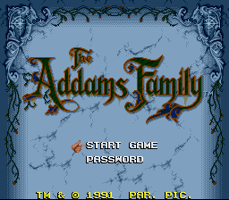Addams Family, The on snes