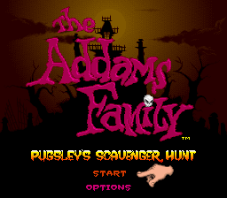 Addams Family, The - Pugsley's Scavenger Hunt on snes