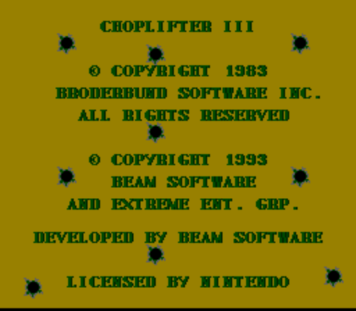 Choplifter III - Rescue Survive (Beta) game