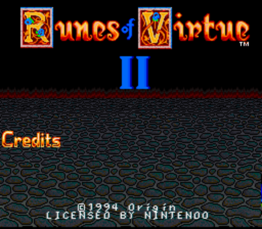 Ultima - Runes of Virtue II (Beta) (1994-XX-XX)