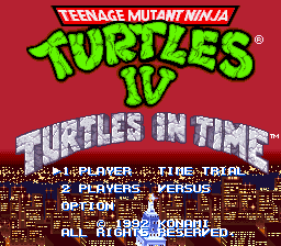 Teenage Mutant Ninja Turtles IV - Turtles in Time (Beta)