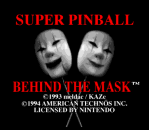 Super Pinball - Behind the Mask (Rev A)