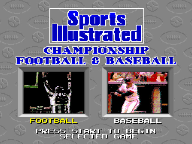 Sports Illustrated Championship Football & Baseball (Beta) game