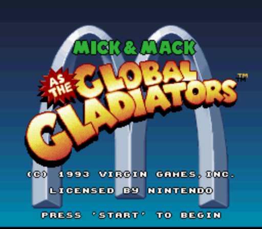 Mick & Mack as the Global Gladiators (Proto) [1829] game