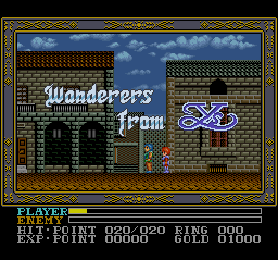 Ys III - Wanderers from Ys (Japan) on snes