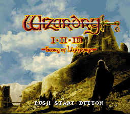 Wizardry I-II-III - Story of Llylgamyn (Japan) (NP)