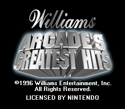 Williams Arcade's Greatest Hits (Europe)