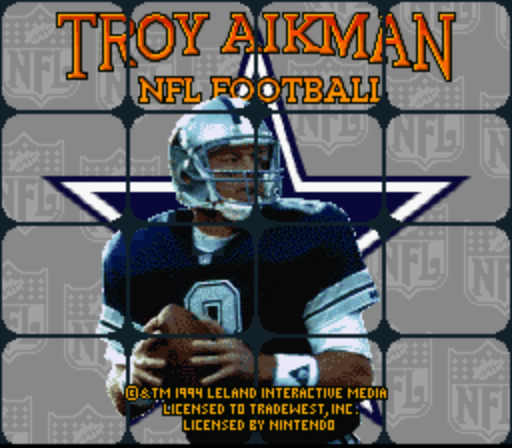 Troy Aikman NFL Football (Europe) game