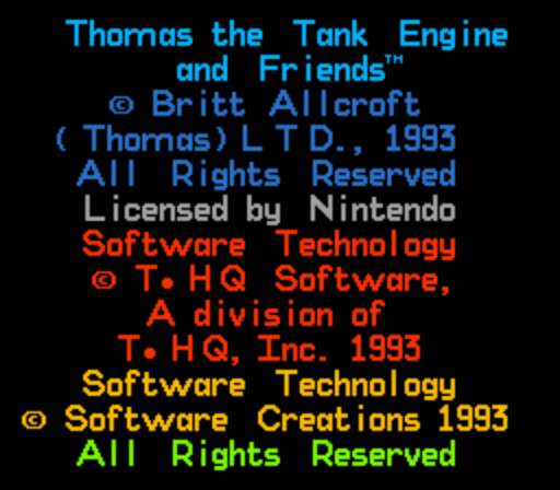 Thomas the Tank Engine and Friends (Europe) game
