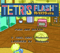 Tetris Flash (Japan) on snes