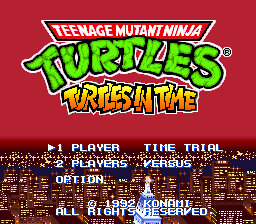 Teenage Mutant Ninja Turtles - Turtles in Time (Japan)