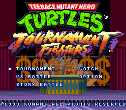 Teenage Mutant Hero Turtles - Tournament Fighters (Europe) on snes