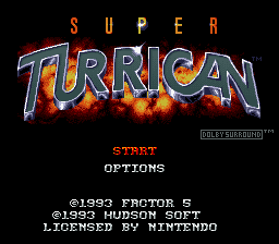 Super Turrican (Europe) on snes