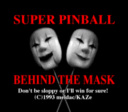 Super Pinball - Behind the Mask (Japan)