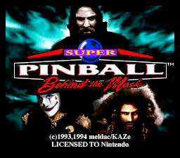 Super Pinball - Behind the Mask (Europe)