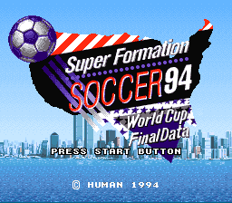 Super Formation Soccer '94 - World Cup Final Data (Japan)