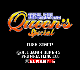 Super Fire Pro Wrestling - Queen's Special (Japan)