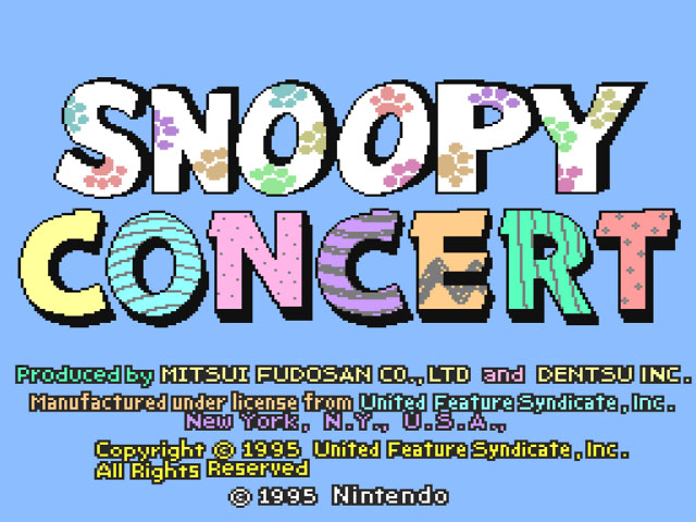 Snoopy Concert (Japan) [En by Aeon Genesis v1.0]