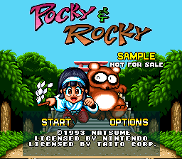 Pocky & Rocky (Europe) (Sample)