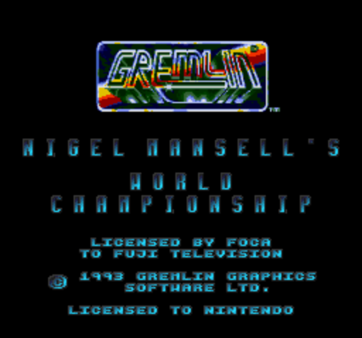 Nigel Mansells World Championship Racing (Europe) (Rev A) game