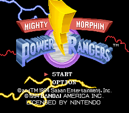 Mighty Morphin Power Rangers (Europe)