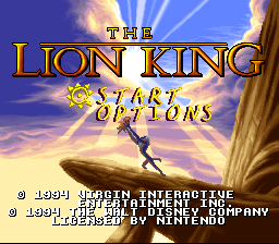 Lion King, The (Europe) on snes