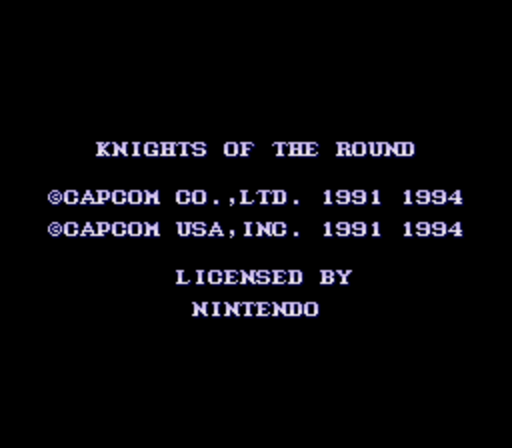 Knights of the Round (Europe) game