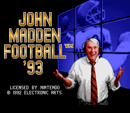 John Madden Football '93 (Europe)