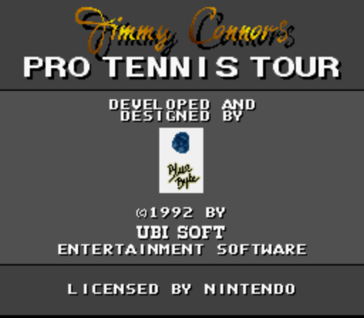 Jimmy Connors Pro Tennis Tour (Europe) game