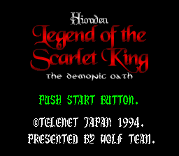 Hiouden - Mamono-tachi Tono Chikai (Japan) [En by Aeon Genesis v1.0] (~Hiouden - Legend of the Scarlet King - The Demonic Oath)