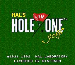 HAL's Hole in One Golf (Europe)