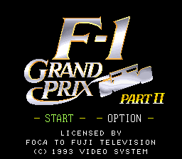 F-1 Grand Prix - Part II (Japan) game