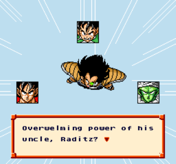Dragon Ball Z - Super Saiya Densetsu (Japan) (Rev 1) [En by Saiya v0.99Final] (~Dragon Ball Z - Legend of the Saiyans) game