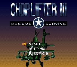 Choplifter III - Rescue Survive (Japan)