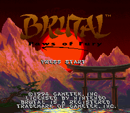 Brutal - Paws of Fury (Europe) (En,Fr,De)