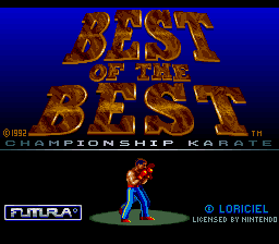 Best of the Best - Championship Karate (Europe) on snes