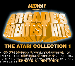 Arcade's Greatest Hits - The Atari Collection 1 (Europe)