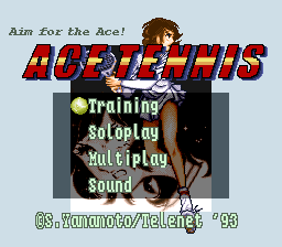 Ace o Nerae! (Japan) [En by RPGOne v1.2] (~Aim for the Ace! - Ace Tennis) game
