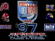 College Football USA 97 - The Road to New Orleans game