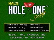 HALs Hole in One Golf game