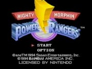 Mighty Morphin Power Rangers on Snes