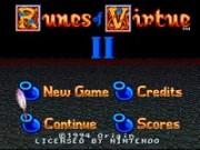 Ultima - Runes of Virtue II on Snes